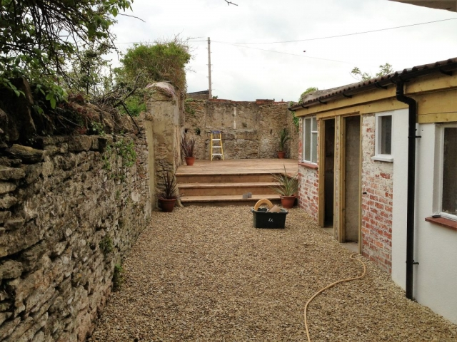 Garden and outhouse renovation