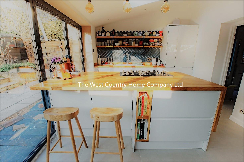 Single storey kitchen extension with bi-folds