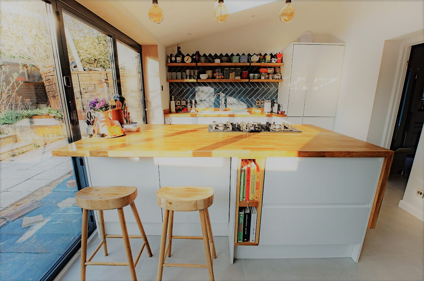 Single storey kitchen extension with bi-folds